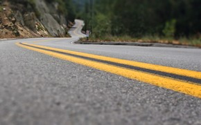 road, line, asphalt