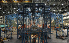 hangar, montaggio, piano