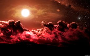 Star, sky, clouds, form