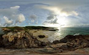 bay, rocks, sea
