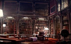 interior, biblioteca