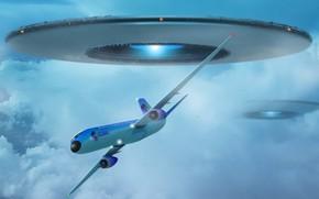 plane, UFO, maneuver