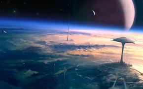 disegno, futuro, pianeta