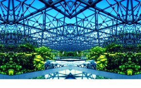 design, glasshouse, Steel, vegetation, bright