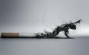 cigarette, ash