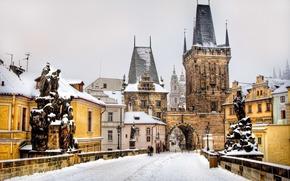 Prague, bridge, old town, Sculpture