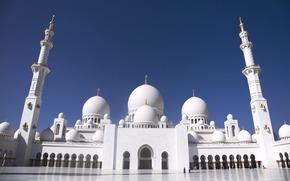 Abu Dhabi, Sheikh Zayed Mosque, zone, Arche