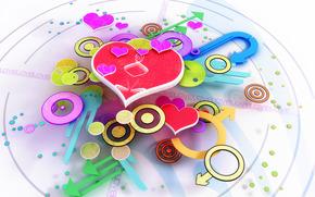 часы, время, стрелки, любовь, сердце