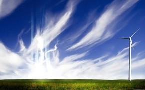 campo, cielo, energa, viento, cirro, Estilo