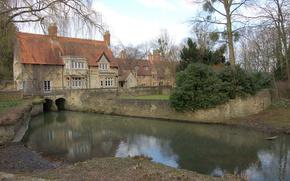England, village, creek, home