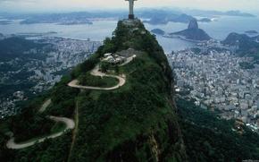 бразилия,  статуя,  вид,  гора