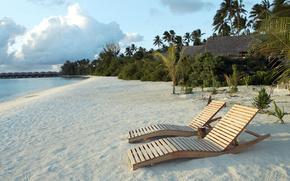 spiaggia, riposo, Lettini