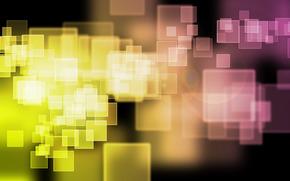 абстракция, желтый, оранжевый, малиновый, квадрат, блик