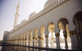 Abu Dhabi, Sheikh Zayed Mosque, Arche, zone, minaret, dme