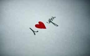 макро, любовь, сердце, чувство, бумага, надпись, ручка, краски, лист, строчка, рисунок