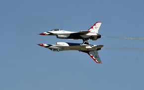 буревестники, ввс сша, ввс, зеркало, пилотажная группа, авиация, полёт, небо, воздух, истребитель, самолёт