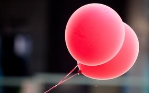 фон,  шары,  розовый,  воздушные