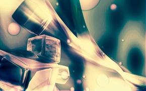 кубики,  кубы,  текстура,  полосы,  изгибы,  переливы