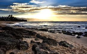 bright, sun, sea, sand