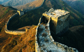 Great Wall of China, light, Hills