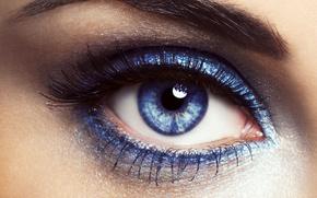 глаз,  синий,  ресницы,  тушь,  бровь,  взгляд