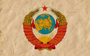 coat of arms, USSR, hammer and sickle, wallpaper