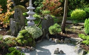 япония,  японский сад,  пагода