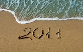 macro, New Year, New Wallpaper, Beaches, water, sand, sea, ocean, coast, figure, figures