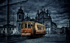 tram, City, color