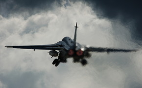 Su-24, plane, aviation, takeoff
