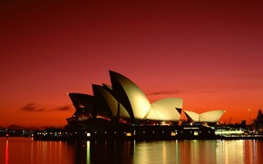 Opera House, Sydney, night, city, city