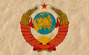 USSR, coat of arms, sickle, hammer