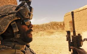 солдат, ирак, пустыня