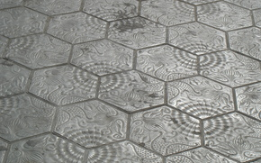 пол, плиты, узор, текстура, серый