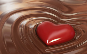 chocolate, delicious, heart