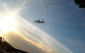 Су-27,  истребитель,  небо,  облака,  полёт