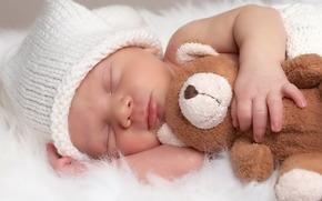 младенец, ребёнок, детство, сон, игрушка