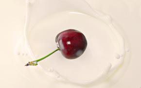 черешня,  молоко,  фрукты