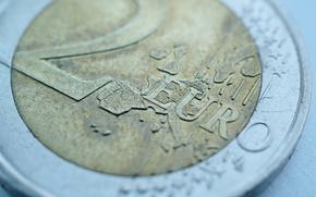 монета,  евро,  макро