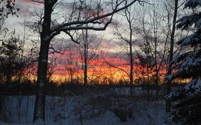 Пейзажи, закат, природа