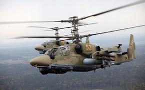 KA-52,  вертолёт,  полёт