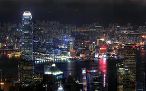 City, home, lights