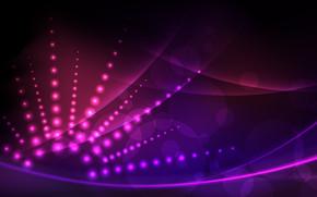 круги, лучи, фиолетовый, розовый