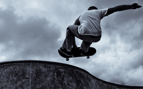 Skateboarder, sport, Adrenaline