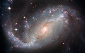 galassia, spazio, luce, Stella
