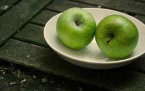 Macro, fruct, mere, fruct, bord, bord, Beciurile, depozitare, depozitare, fel de mncare, farfurioar, farfurioar, bucate, plac, bucate