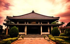 японский дворец,  пагода,  япония