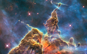 spazio, nebulosa, gas, Stella, splendore, luce