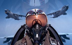 pilota, combattente, cielo