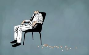 headshoоt,  самойбийство,  стул,  тело
